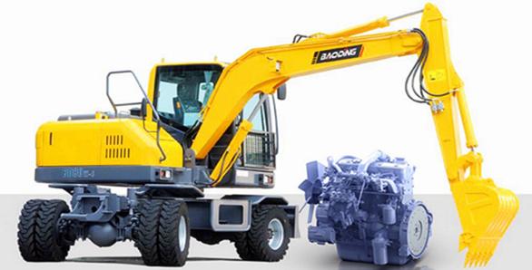 宝鼎轮式挖掘机抓木机产品选用知名品牌进口部件