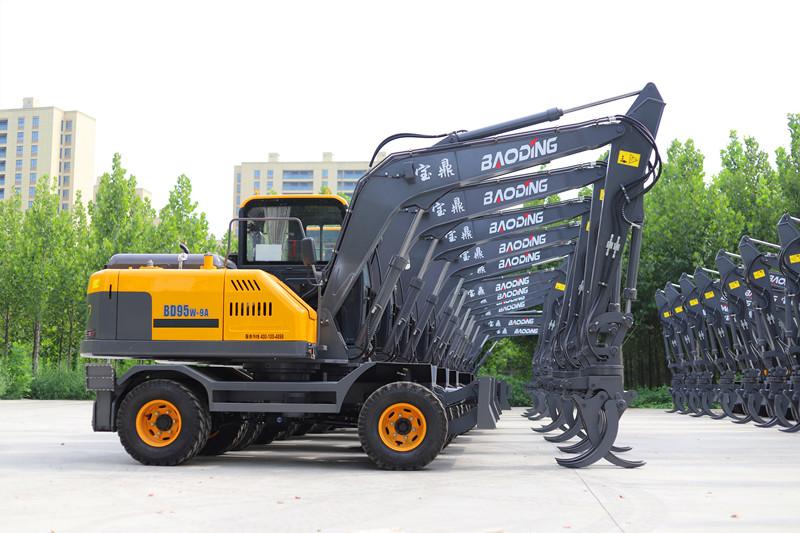 宝鼎轮式挖掘机抓木机价格