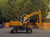 宝鼎BD80W轮式挖掘机视频