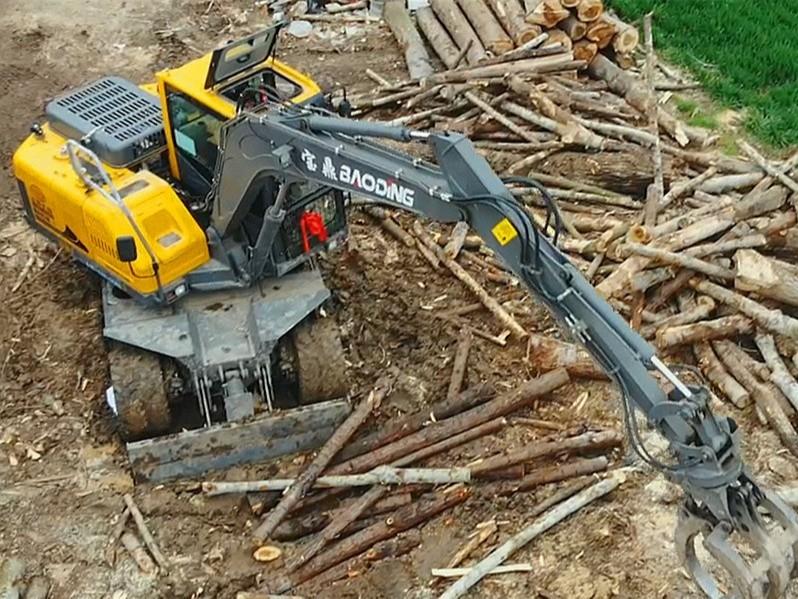 宝鼎抓木机型号BD95-9H轮式抓木机