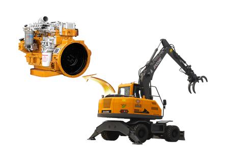 宝鼎BD95W轮式抓木机动力系统