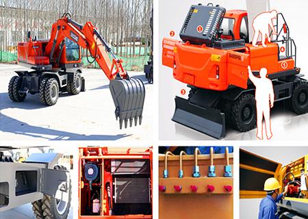 宝鼎150轮式挖掘机维护便捷