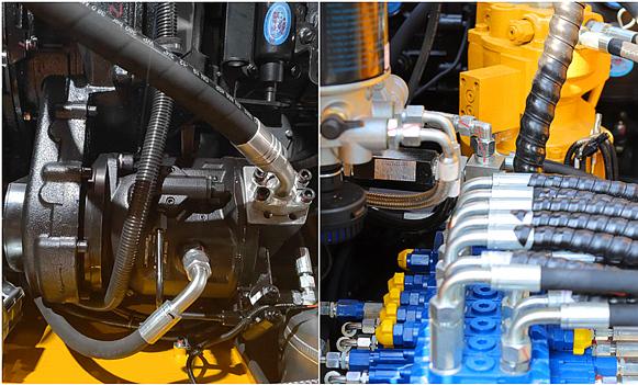 采用进口液压系统部件性能优越