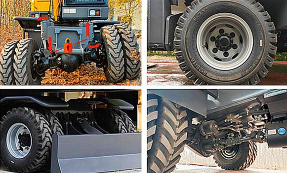 宝鼎BD80W-8A轮式挖掘机下盘