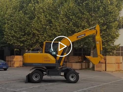 2019款宝鼎BD80W小型轮式挖掘机视频展示介绍