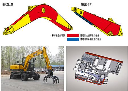 宝鼎BD80W轮式抓木机结构坚固