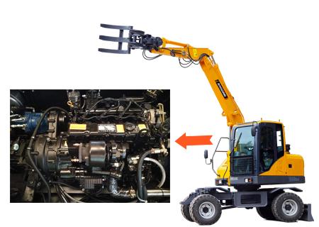 宝鼎BD80W-8D轮式抓木机动力部件
