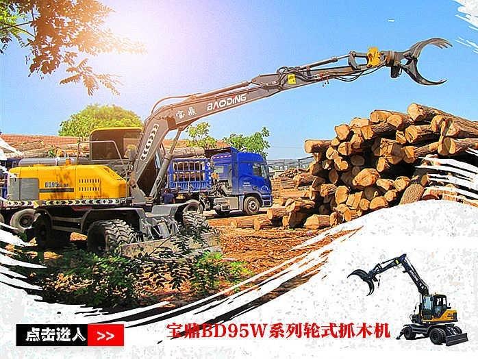 抓重大 爆发力强 工作范围大-宝鼎BD95W-9系列抓木机