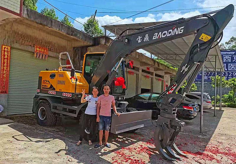 广西钦州抓木机销售客户