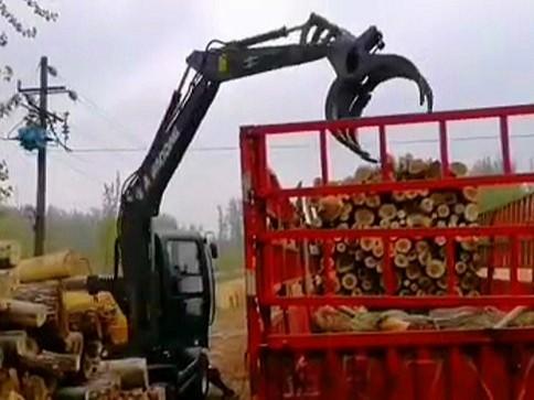 宝鼎95系列抓木机2020年持续发力产销两旺