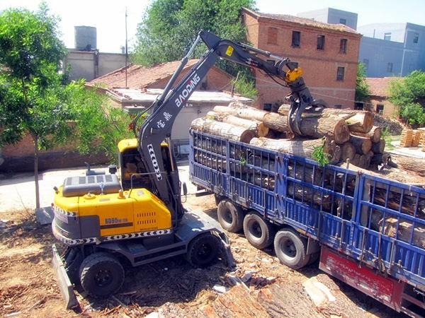 宝鼎轮式挖掘机抓木机厂家热销型号BD95W-9A-高效回报