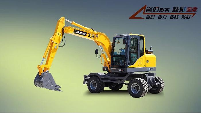 宝鼎BD80W系列轮式挖掘机超值版型号
