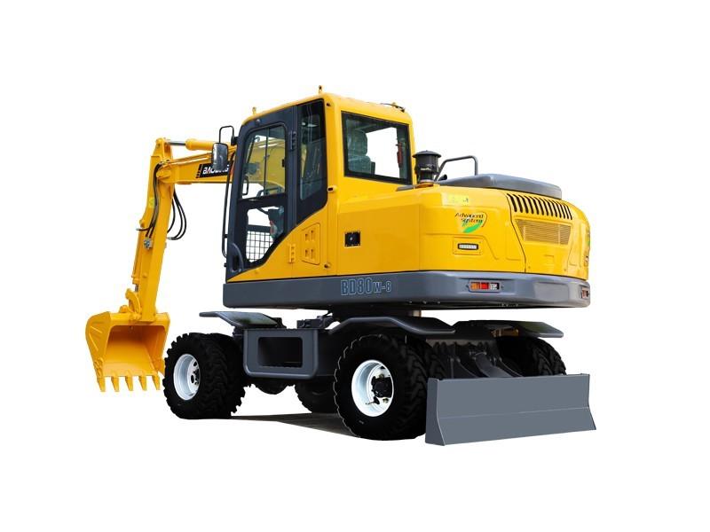 宝鼎BD80W-8A轮式小挖掘机