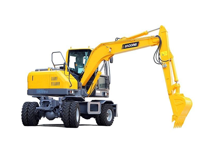 宝鼎BD80W-8A轮式挖掘机宝鼎BD80W-8A小型轮式挖掘机