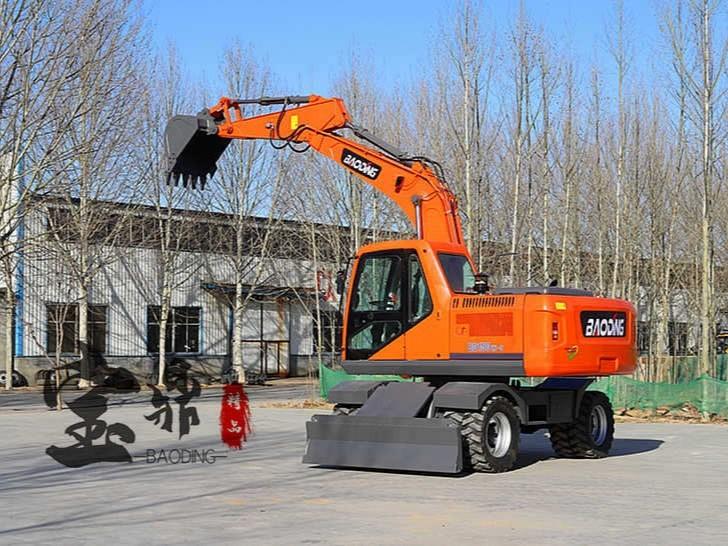 宝鼎新款150型号轮式挖掘机