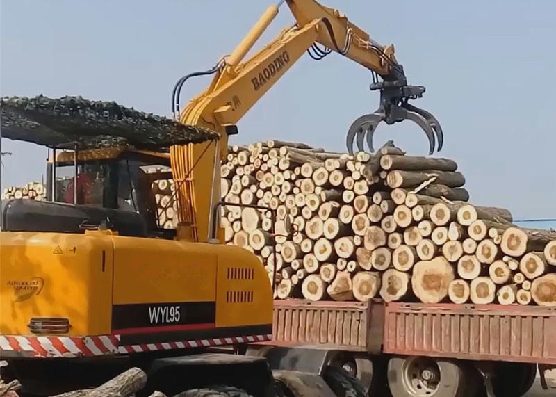多用途95轮式挖掘机抓木机