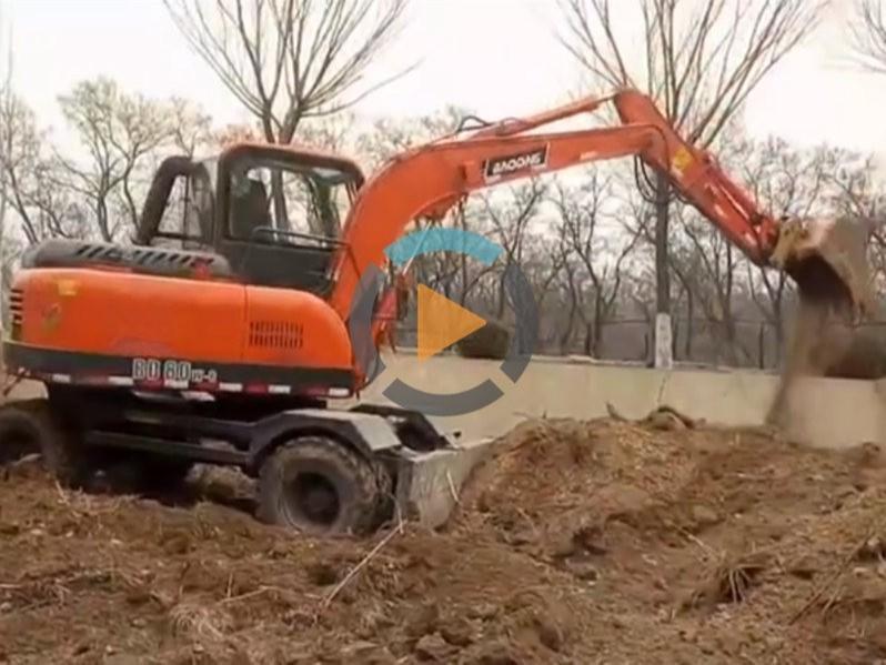 宝鼎轮式小挖掘机BD80型号工况介绍