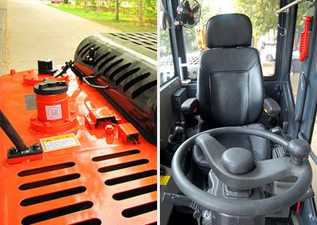 宝鼎BD80W轮式挖掘机维护便捷
