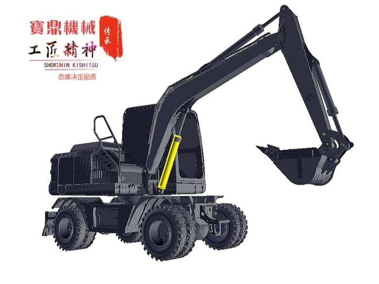 宝鼎轮式挖掘机品牌BD80轮式挖掘机