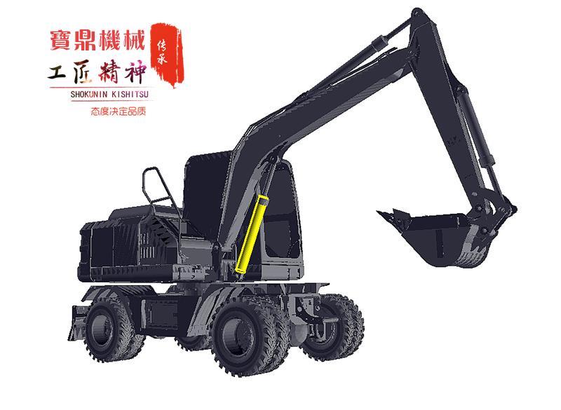 宝鼎轮式挖掘机品牌BD80W轮式挖掘机