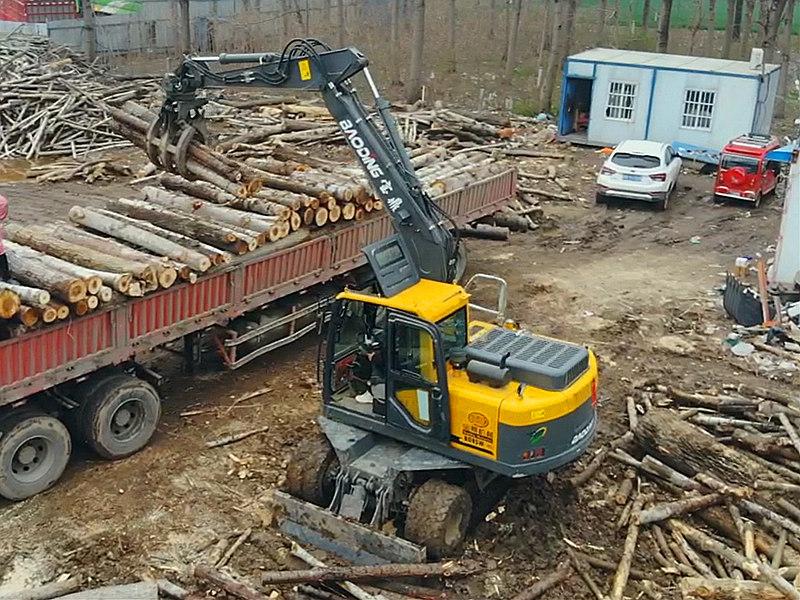 宝鼎BD95W-9H轮式抓木机