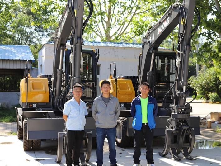 河北廊坊抓木机客户购置BD95W轮式抓木机