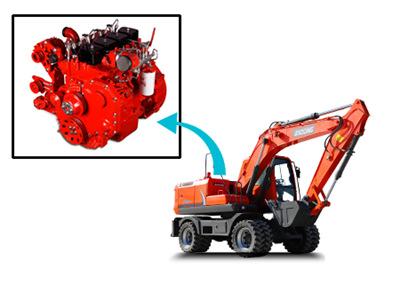 宝鼎150轮式挖掘机动力部件