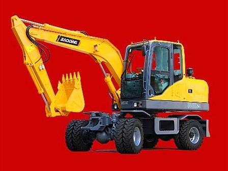 宝鼎BD80轮式小挖掘机