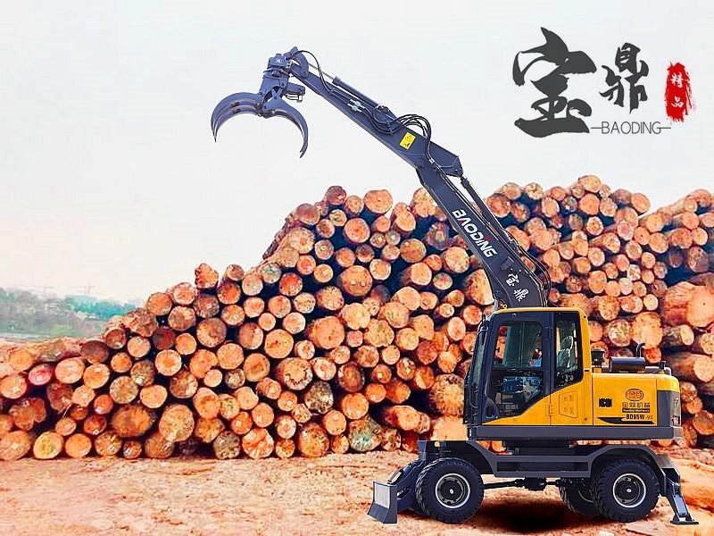 宝鼎BD95S轮式挖掘机抓木机产品在型号能力方面都有所加强现车热销中