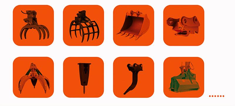 轮式挖掘机辅具