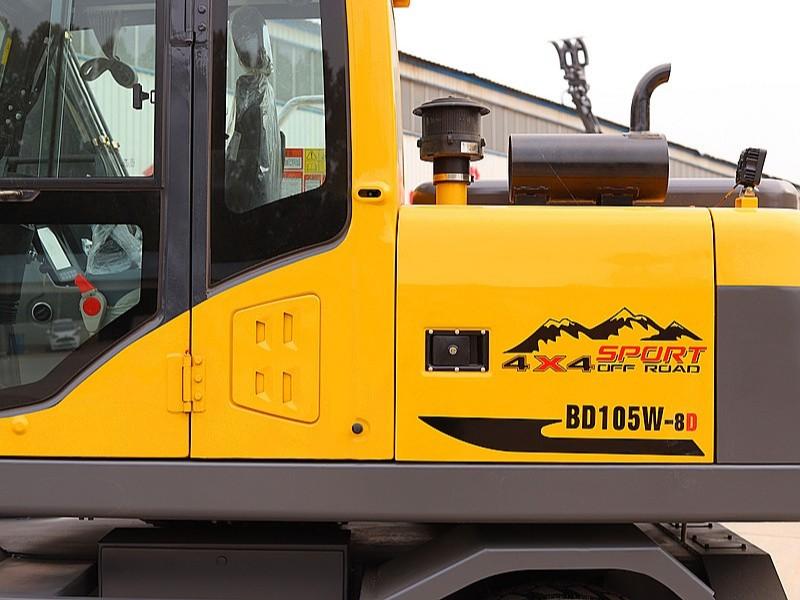 宝鼎105轮式挖掘机型号中型轮挖设计工作效率快多功能属性