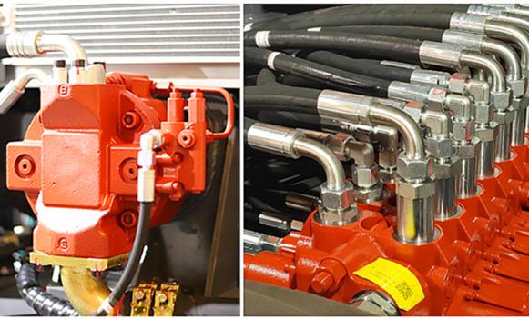 宝鼎BD95W-9A型轮式抓机进口系统