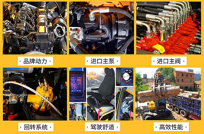 宝鼎BD95S轮式抓木机细节图