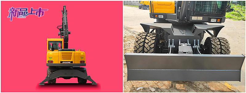 95S新款抓木机前铲后支腿设计
