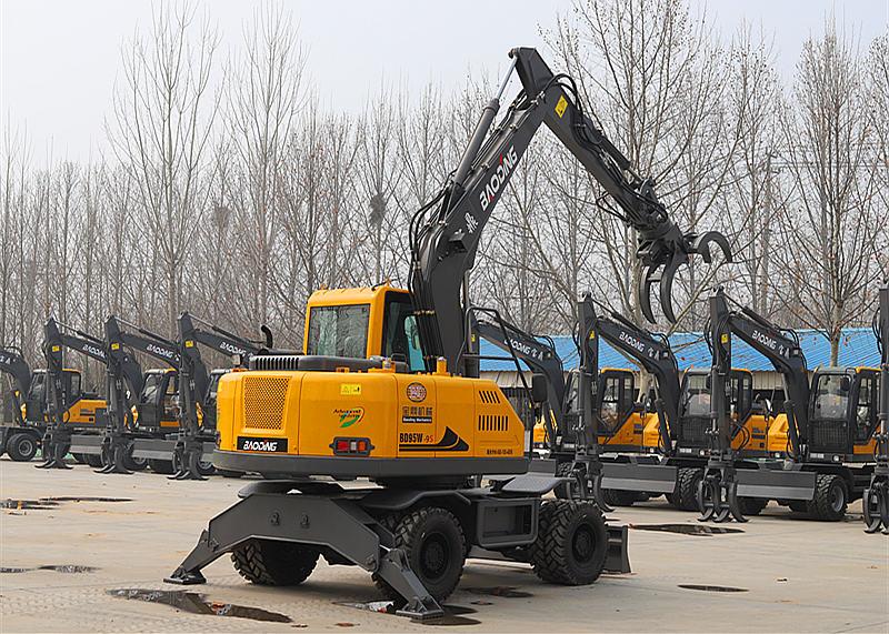 新款BD95W-9S轮式挖掘机抓木机[图解]