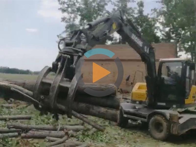 宝鼎BD95W轮式抓木机视频