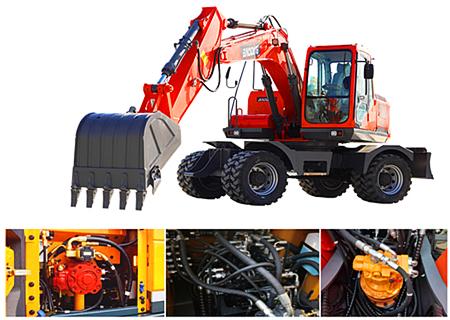 宝鼎150轮式挖掘机液压系统部件