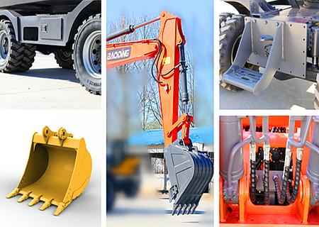 宝鼎150轮式挖掘机结构件坚固