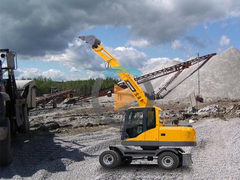 宝鼎80小型轮式挖掘机
