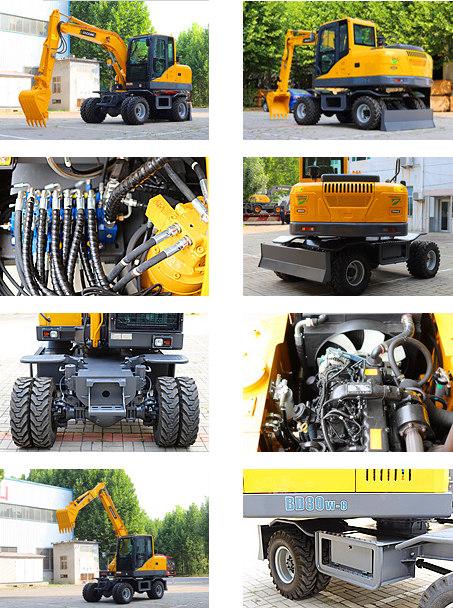 宝鼎80轮式挖掘机型号