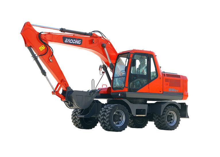 中型轮式挖掘机