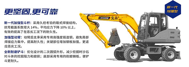 宝鼎轮式挖掘机型号BD80W