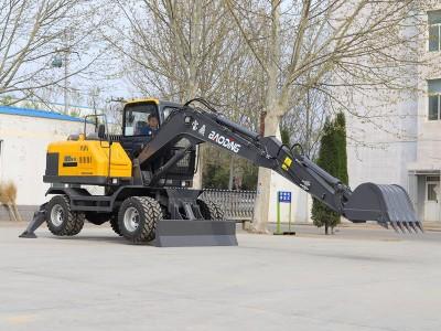 宝鼎BD95W型号轮胎式挖掘机