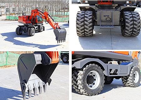 宝鼎150轮胎式挖掘机结构件