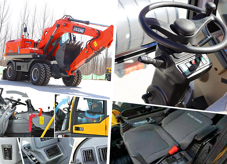 宝鼎150轮式挖掘机驾驶舒适