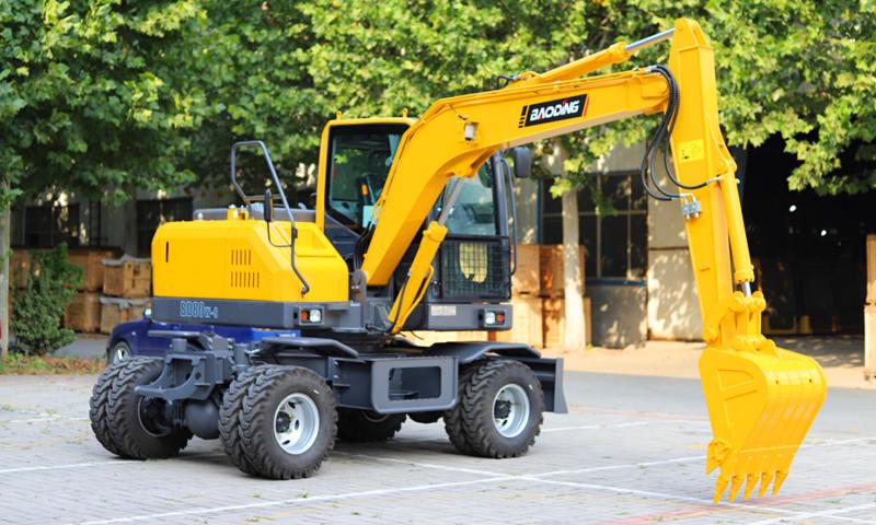 新款轮式小挖掘机80型号