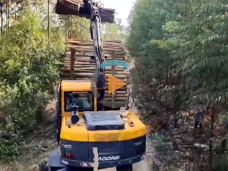 95抓木机装树