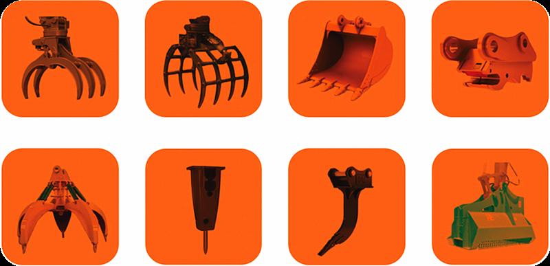宝鼎抓木机可选多种辅具搭配