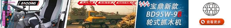 宝鼎BD95W-9B抓木机广告图