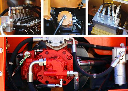 宝鼎150抓木机液压系统部件